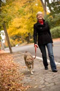 Woman Loose Leash Walking